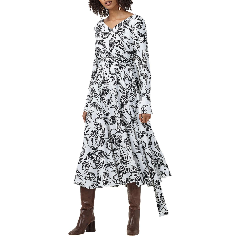 Logan Monochrome Zebra Flame Dress Finery
