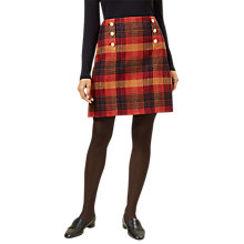 Buy Hobbs Carlin Tartan Skirt, Marmalade Online at johnlewis.com