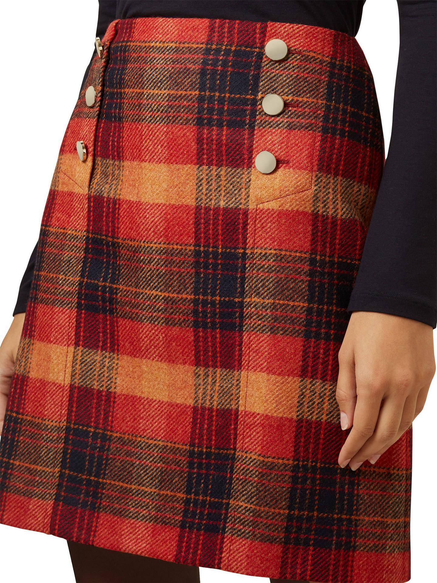 Astounding Hobbs Carlin Tartan Skirt Marmalade At John Lewis Partners Theyellowbook Wood Chair Design Ideas Theyellowbookinfo