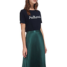 Buy Whistles Au Revoir Logo T-Shirt, Navy Online at johnlewis.com