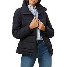 Buy Hobbs Una Puffer Jacket, Navy Online at johnlewis.com