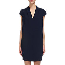 Buy Whistles Paige V Neck Crepe Dress, Navy Online at johnlewis.com
