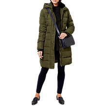 Buy Hobbs Lilianna Puffer Coat, Khaki Online at johnlewis.com