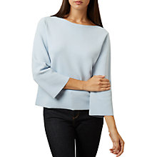 Buy Hobbs Logan Boat Neck Flare Sleeve Jumper, Pale Blue Online at johnlewis.com