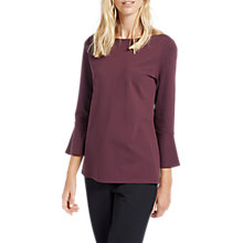 Buy Jaeger Asymmetric Jersey Top, Plum Online at johnlewis.com