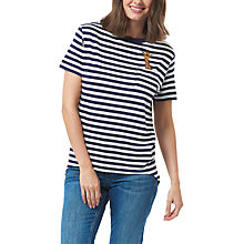 Buy Sugarhill Boutique Mimi Giraffe Pocket Charity T-Shirt, Off White/Navy Online at johnlewis.com