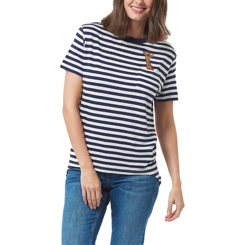 Sugarhill Brighton Mimi Giraffe Pocket Charity T-Shirt, Off /Navy