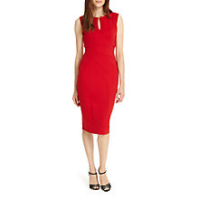 Buy Phase Eight Naomi Notch Neck Dress, Sangria Online at johnlewis.com