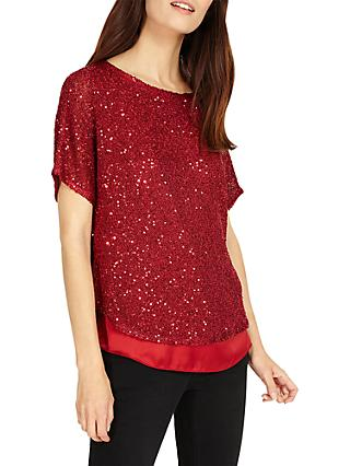 Phase Eight Sequin Macey Knit Top