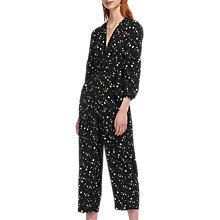 Buy Whistles Constellation Print Jumpsuit, Black/White Online at johnlewis.com
