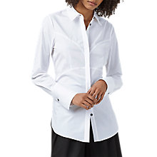 Buy Finery Hammond Corset Back Shirt, White Online at johnlewis.com