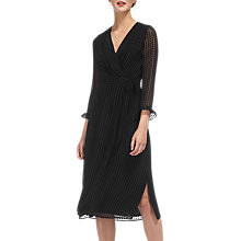 Buy Whistles Venus Velvet Spot Wrap Dress, Black Online at johnlewis.com