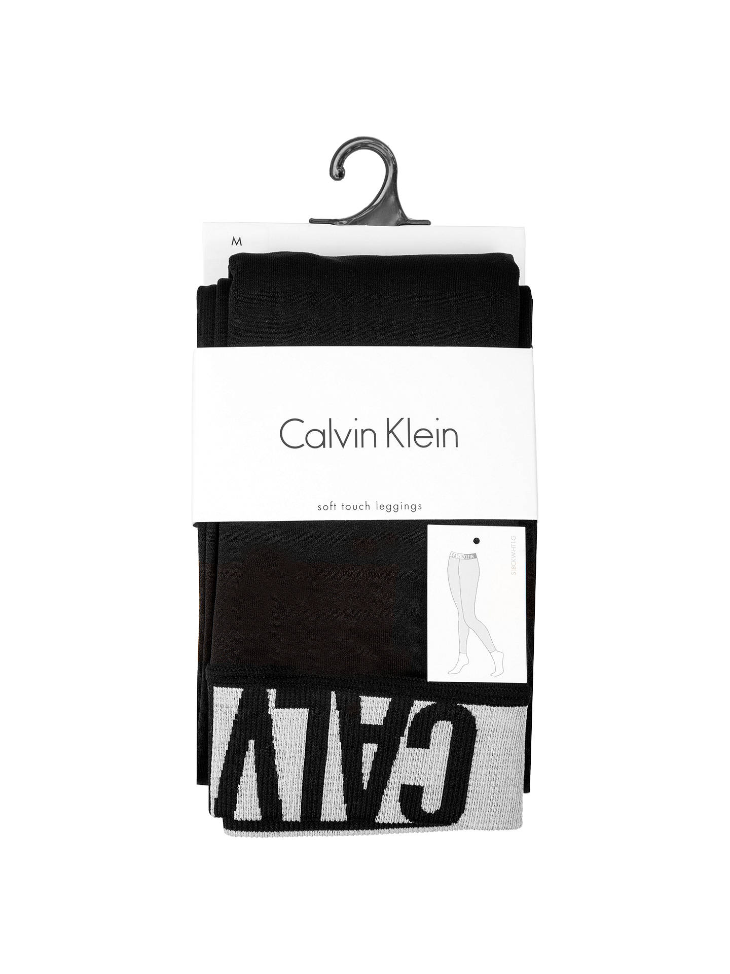 BuyCalvin Klein Modern Logo Leggings, Black, S Online at johnlewis.com