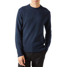 Buy Jigsaw Cashmere Crew Jumper, Navy Online at johnlewis.com