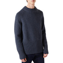 Buy Jigsaw Cocoon High Neck Jumper, Slate Blue Online at johnlewis.com