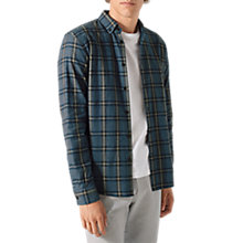 Buy Jigsaw Italian Flannel Check Shirt, Blue Online at johnlewis.com