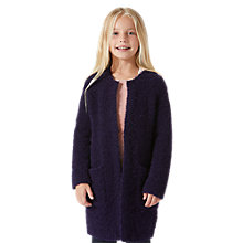 Buy Jigsaw Girls' Longline Boucle Cardigan Online at johnlewis.com