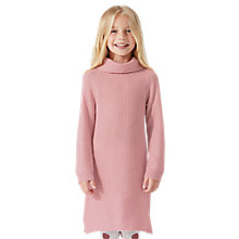 Buy Jigsaw Girls' Rib Cowl Neck, Pink Online at johnlewis.com