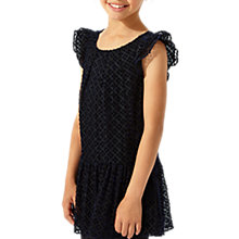 Buy Jigsaw Girls' Velvet Spot Party Dress, Navy Online at johnlewis.com
