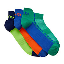 Buy John Lewis Girls' Fashion Sports Trainer Sock Liners, Pack of 3, Multi Online at johnlewis.com
