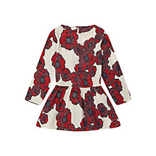 Buy Jigsaw Girls' Winter Floral Dress, Red Online at johnlewis.com