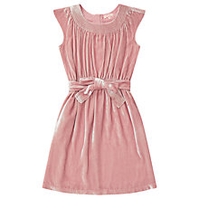 Buy Jigsaw Girls' Silk Velvet Party Dress, Pink Online at johnlewis.com