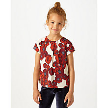 Buy Jigsaw Girls' Floral Top, White/Red Online at johnlewis.com