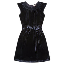 Buy Jigsaw Girls' Silk Velvet Party Dress, Navy Online at johnlewis.com