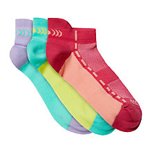 Buy John Lewis Girls' Sports Trainer Sock Liners, Pack of 3, Multi Online at johnlewis.com