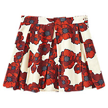 Buy Jigsaw Girls' Floral Print Skirt, Red Online at johnlewis.com
