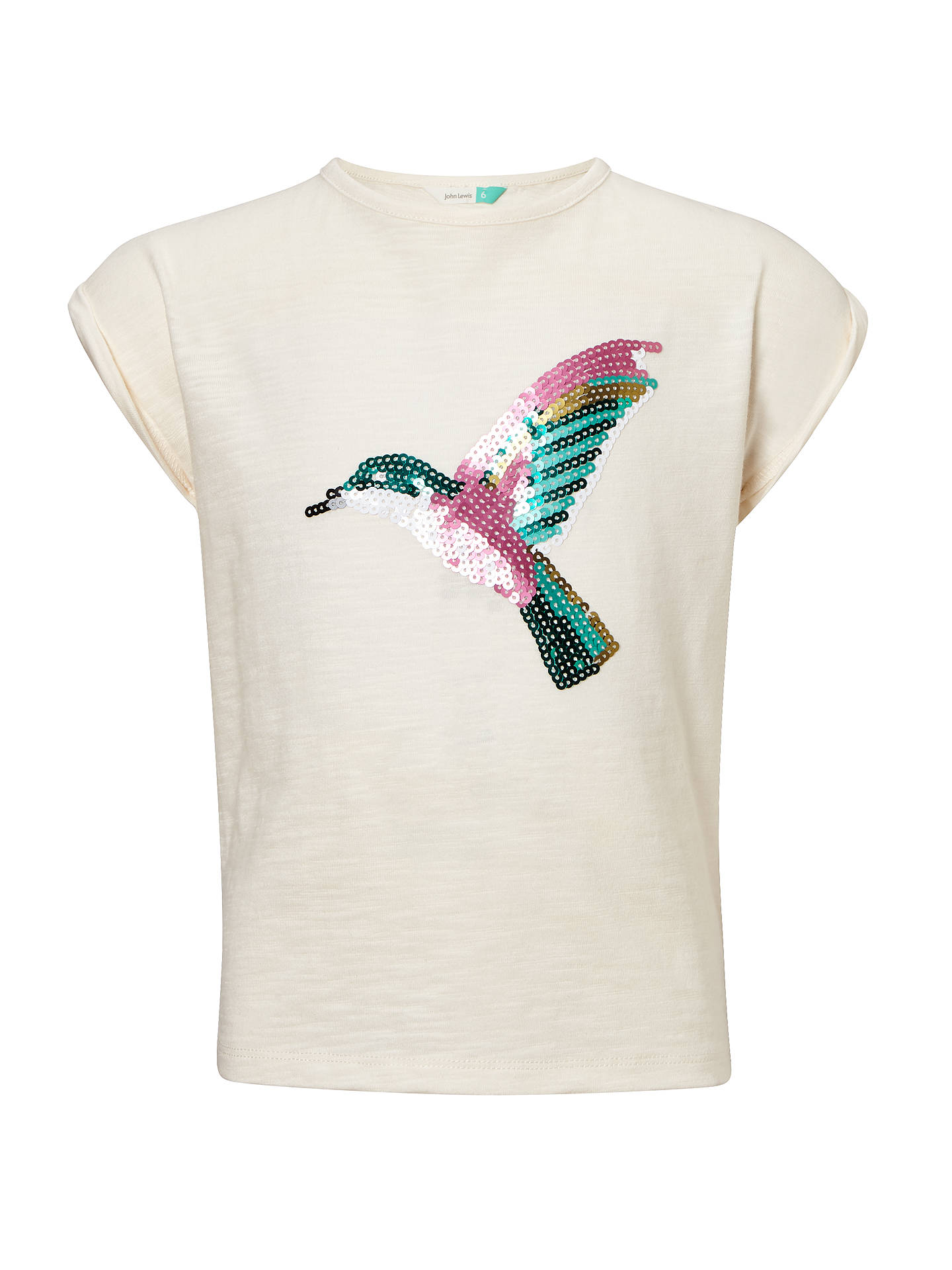 89f27301fae Buy John Lewis   Partners Girls  Sequin Hummingbird T-Shirt
