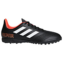 Buy Adidas Children's Predator Tango 18.4 Trainers, Black/Red Online at johnlewis.com