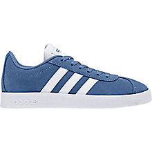 Buy adidas Junior VL Court 2.0 Riptape Trainers, Blue Online at johnlewis.com