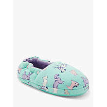 Buy John Lewis Children's Dog Slippers, Green Online at johnlewis.com
