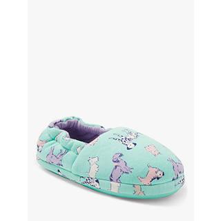 John Lewis Children's Dog Slippers, Green