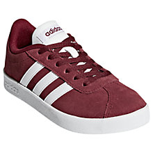 Buy Adidas VL Court Rip Tape Trainers, Burgundy Online at johnlewis.com