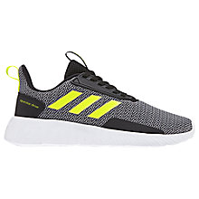 Buy Adidas Junior Questar Drive Trainers, Grey/Yellow Online at johnlewis.com