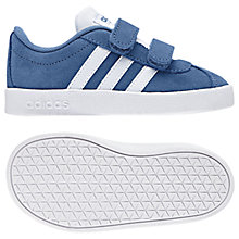Buy adidas Junior VL Court Rip Tape Trainers, Blue Suede Online at johnlewis.com