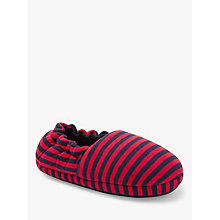 Buy John Lewis Children's Jersey Stripe Slippers, Multi Online at johnlewis.com