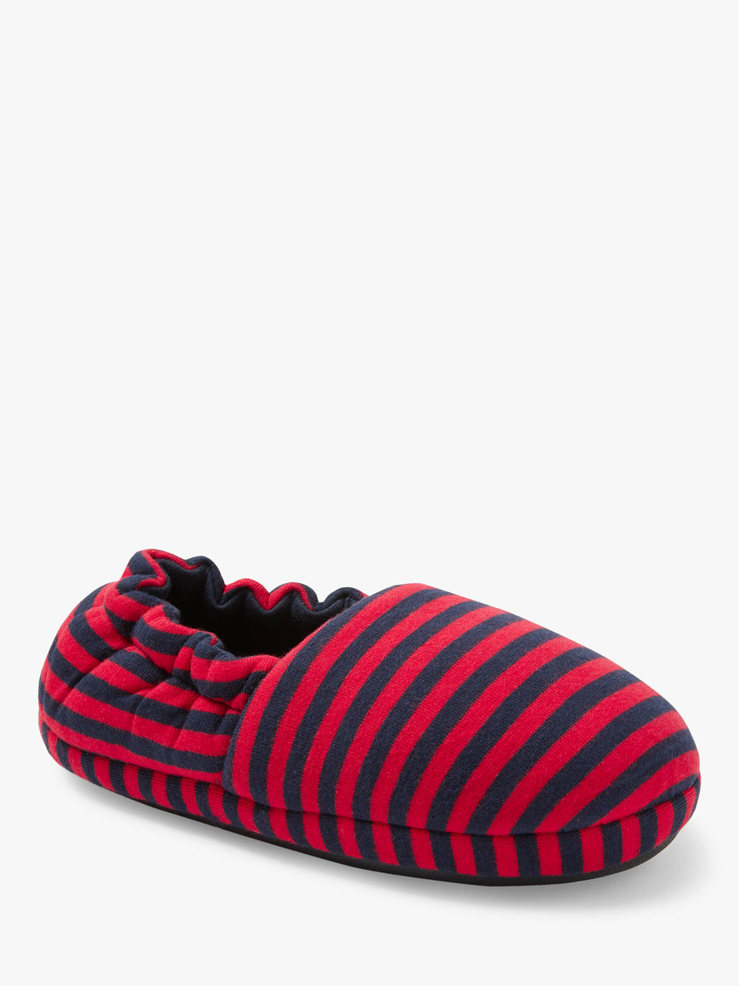 Buy John Lewis & Partners Children's Jersey Stripe Slippers, Multi, 6 Jnr Online at johnlewis.com