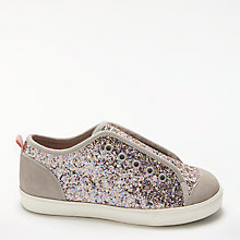 Buy John Lewis Children's Coco Glitter Shoes, Pink Online at johnlewis.com