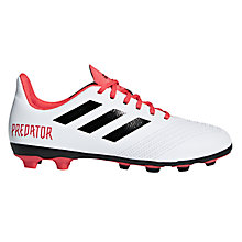 Buy adidas Children's Predator Tango 18.4 Football Boots, White/Red Online at johnlewis.com