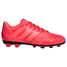 Buy adidas Children's Nemeziz 17.4 Football Boots, Pink Online at johnlewis.com