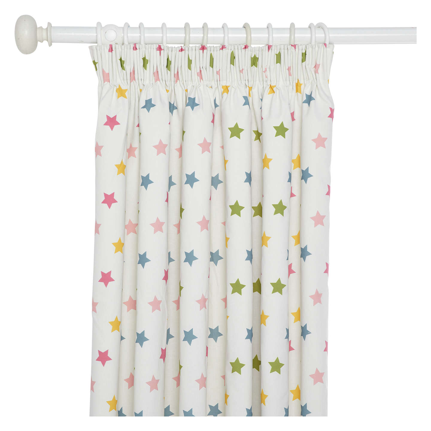 Buylittle Home At John Lewis Star Pencil Pleat Pair Blackout Lined Childrenu0027s  Curtains, W117 X ...