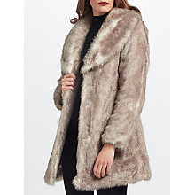 Buy Unreal Fur Elixir Coat, Neutral Online at johnlewis.com