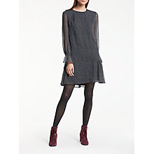 Buy Great Plains Damari Dot Dress, Onyx Black/Multi Online at johnlewis.com