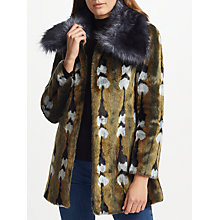 Buy Unreal Fur Reflections Coat, Vintage Jacquard Online at johnlewis.com