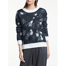 Buy Great Plains Bella Brushed Floral Jumper, Onyx Black/Classic Navy Online at johnlewis.com