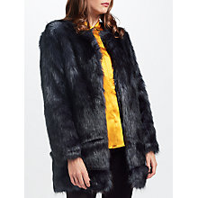 Buy Unreal Fur Midnight Coat, Midnight Online at johnlewis.com