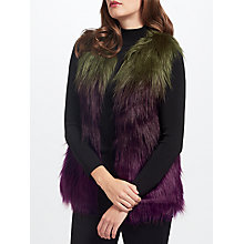 Buy Unreal Fur Liquid Fudge Gilet, Olive/Plum Online at johnlewis.com